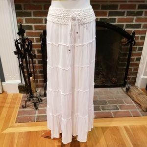 Awesome Long White Boho Skirt